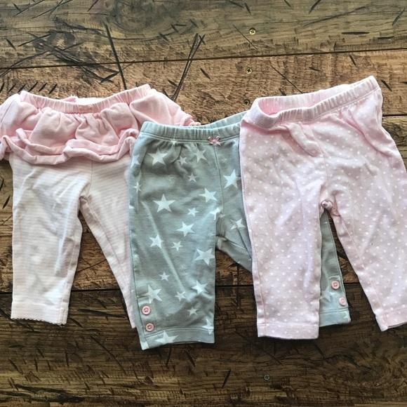 d112a5fc354ec Carter's Bottoms   Gray And Light Pink Baby Girl Leggings Bundle ...
